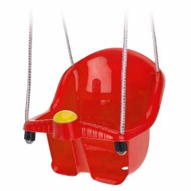 Rode peuterschommel met touw
