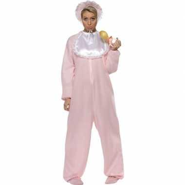 Roze baby kostuum voor volwassenen