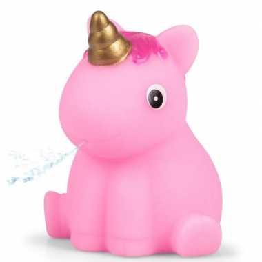 Roze eenhoorn badeend 6 5 cm