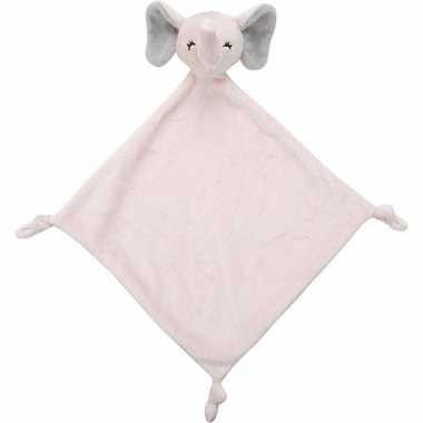 Roze olifant tuttel/knuffeldoekje 40 cm
