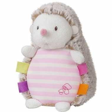 Roze pluche egel egels knuffel 16 cm speelgoed glow in the dark
