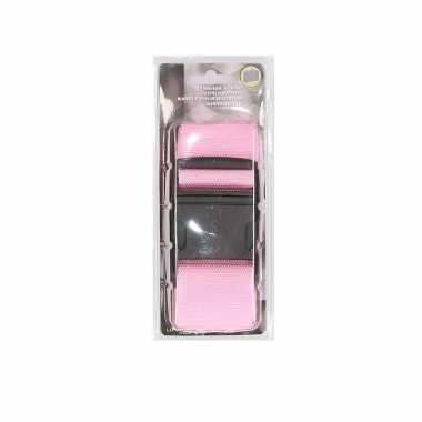 Roze verstelbare kofferriem extra sterk