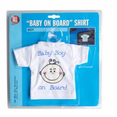 T shirt baby on board jongen voor in de auto