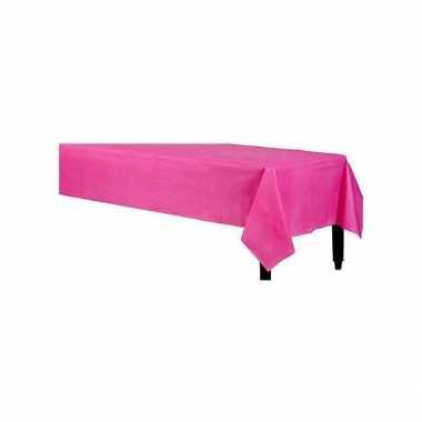 Tafelkleed fuchsia roze 140 x 240 cm