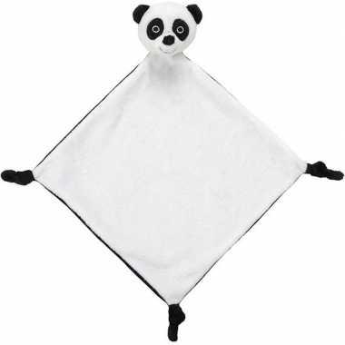 Witte panda beer/beren tuttel/knuffeldoekje 40 cm