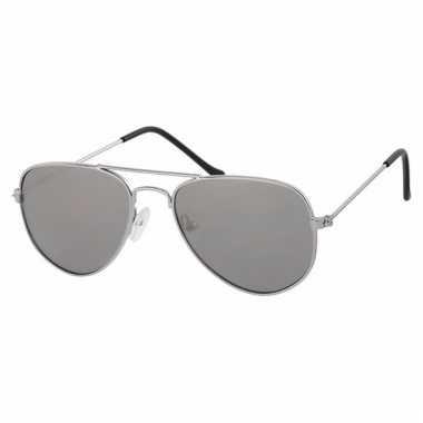 Zilveren baby peuter piloten zonnebril