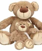 2x pluche mama en kind bella knuffelberen 40 22 cm knuffels