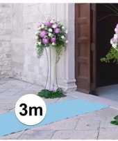 3 meter lichtblauwe loper 1 meter breed