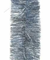 8x lichtblauwe slingers lametta kerstboom guirlandes 270 x 7cm