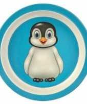 Bamboe ontbijtbord pinguin voor kinderen 21 cm