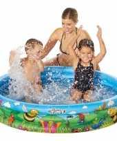 Blauw bloemen opblaasbaar zwembad 122 x 23 cm speelgoed