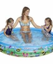 Blauw bloemen opblaasbaar zwembad 178 x 30 cm speelgoed