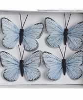 Kerstboom vlinders blauw