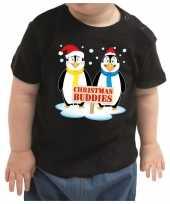 Kerstshirt christmas buddies zwart baby jongen meisje